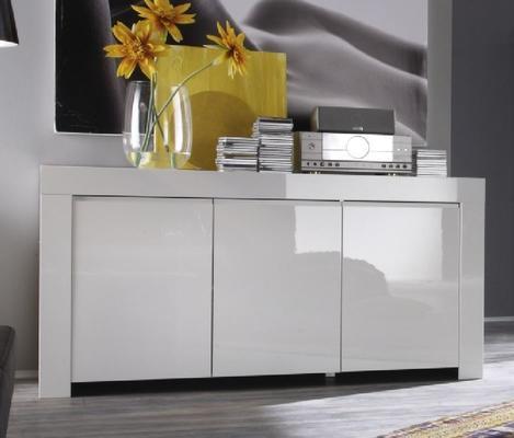 Rimini Collection Three Door Sideboard - White