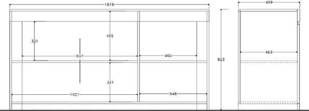 Rimini Collection Three Door Sideboard - White  image 2