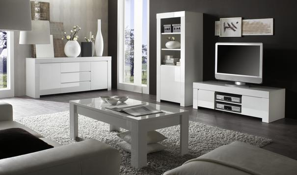 Rimini Collection Two Door/Three Drawer Sideboard - White  image 3
