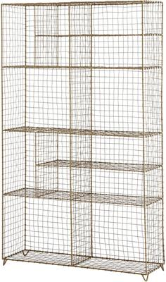 Standing Wire Mesh Painted Cabinet