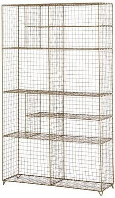 Standing Wire Mesh Painted Cabinet image 2