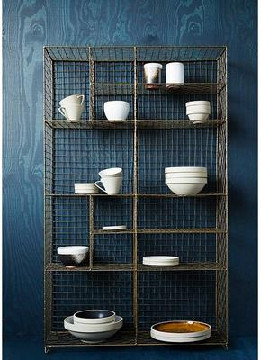 Standing Wire Mesh Painted Cabinet image 3