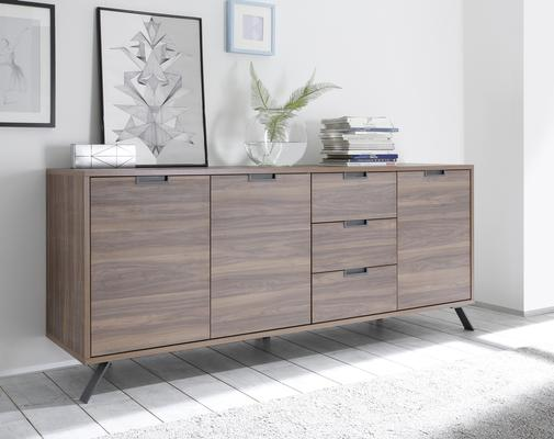 Palma Sideboard Three Doors/Three Drawers - Walnut