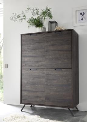 Palma Four Door Highboard - Wenge