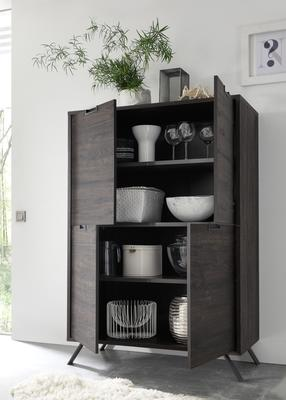 Palma Four Door Highboard - Wenge image 2