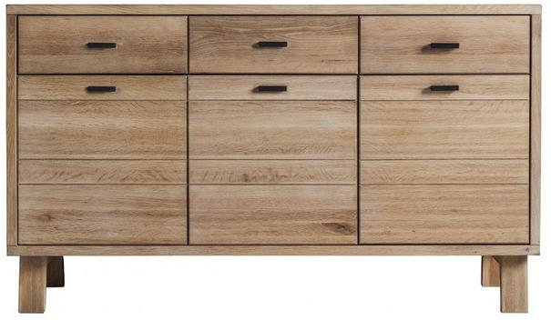 Kielder Simple Wood Sideboard 3 Doors 3 Drawers