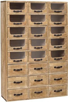 Multi Drawer Rustic Pharmacy Cabinet Pine and Iron image 3