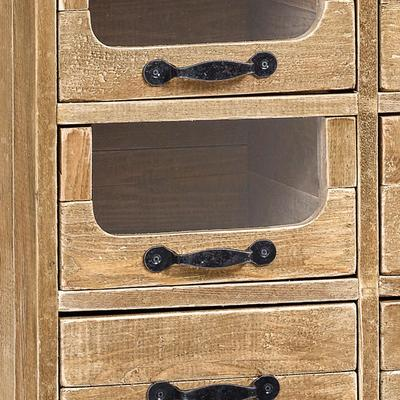 Multi Drawer Rustic Pharmacy Cabinet Pine and Iron image 4