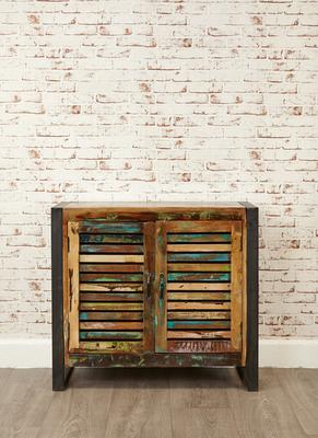 Shoreditch Rustic Two Door Small Sideboard Reclaimed Wood image 3