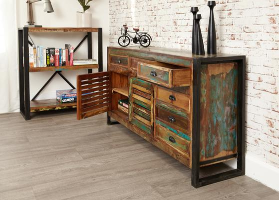 Shoreditch Rustic Large Sideboard Reclaimed Wood image 5