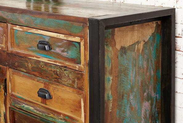 Shoreditch Rustic Large Sideboard Reclaimed Wood image 6
