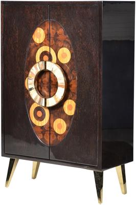Inlaid Circles Cabinet Retro