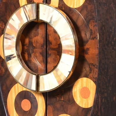 Inlaid Circles Cabinet Retro image 4
