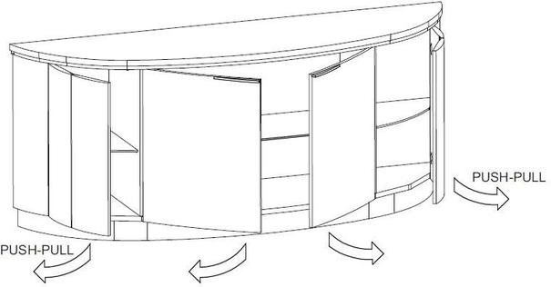 Dune 4 door sideboard image 4