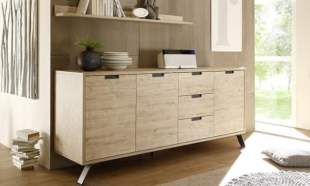 Palma Sideboard Three Doors/Three Drawers - Sherwood Oak