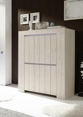 Monza High Sideboard - Rose Beige Finish