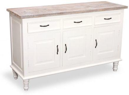 Bayonne Three Door Sideboard Antique White or French Grey