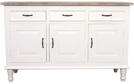 Bayonne Three Door Sideboard Antique White or French Grey image 2