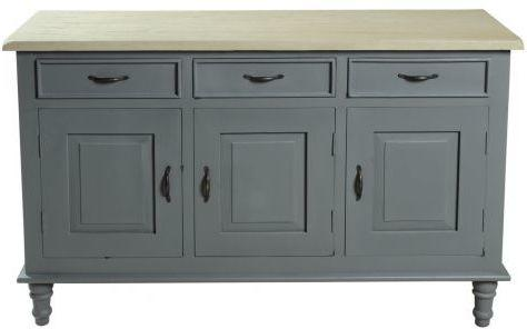 Bayonne Three Door Sideboard Antique White or French Grey image 7