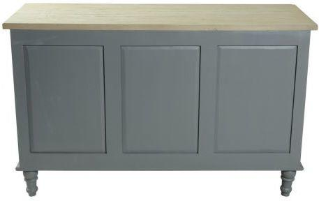 Bayonne Three Door Sideboard Antique White or French Grey image 8