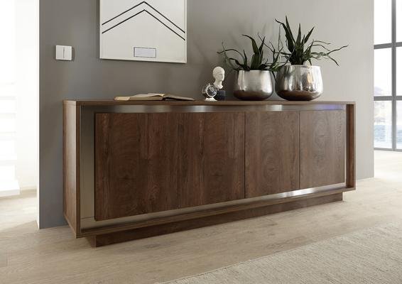 Luna Four Door Sideboard -  Cognac Finish