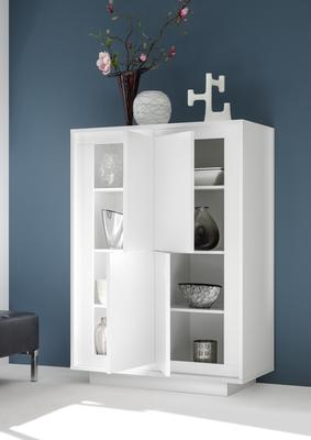 Luna Four Door High Sideboard - Matt White
