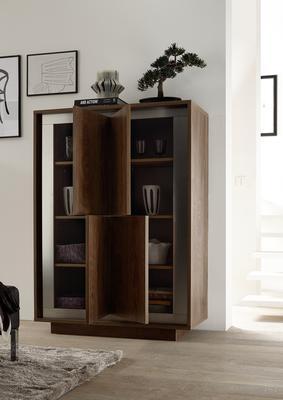 Luna Four Door High Sideboard - Cognac Finish image 2