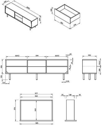 Dann 2 door 2 drawer sideboard image 15