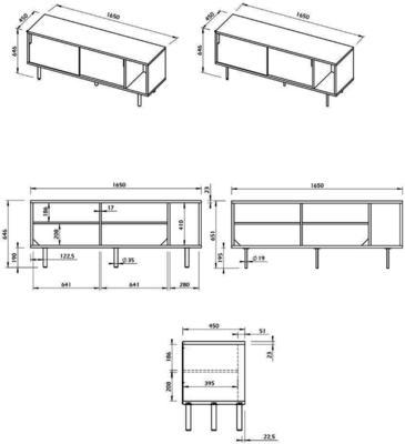 Dann 2 door sideboard image 25