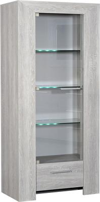 Lathi glass display unit with drawer