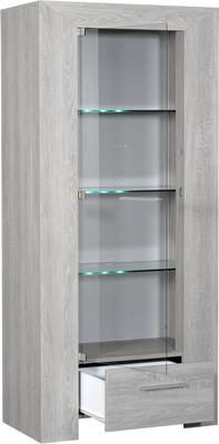 Lathi glass display unit with drawer image 2