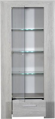 Lathi glass display unit with drawer image 4