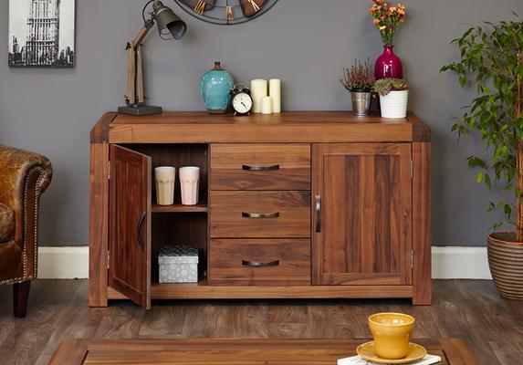 Shiro Walnut 2 Door 3 Drawer Sideboard