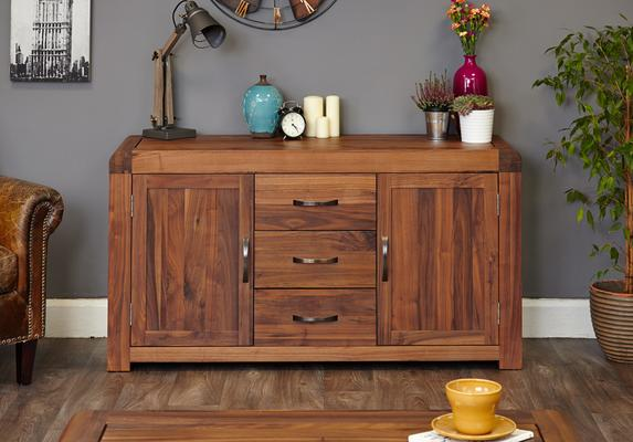 Shiro Walnut 2 Door 3 Drawer Sideboard image 2