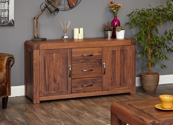 Shiro Walnut 2 Door 3 Drawer Sideboard image 3