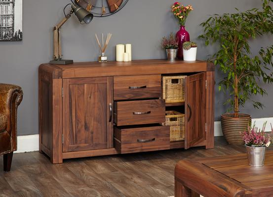 Shiro Walnut 2 Door 3 Drawer Sideboard image 5