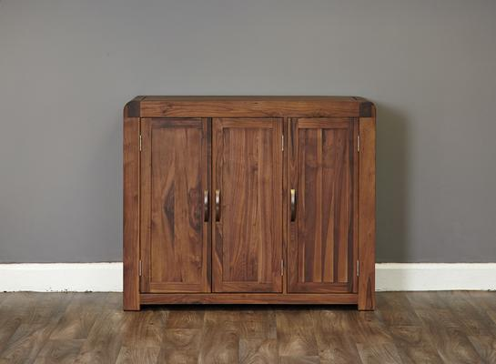Shiro Walnut Large Shoe Cupboard image 3