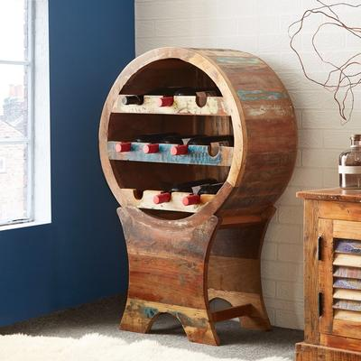 Coastal Rustic Wine Cabinet Reclaimed Wood