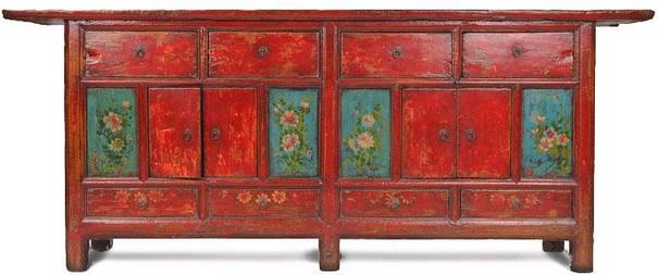 Double Sided Cabinet with Painted Panels