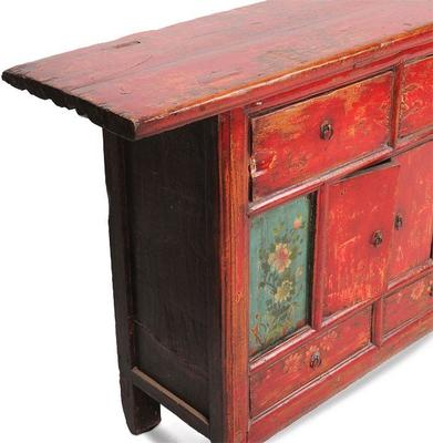 Double Sided Cabinet with Painted Panels image 2