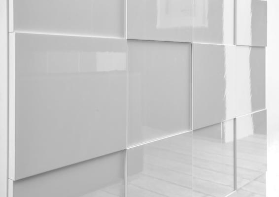Treviso Sideboard - Two Doors/Two Drawers High Gloss White Finish image 3
