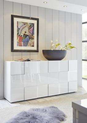 Treviso Sideboard - Three Doors High Gloss White Finish