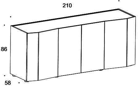 Elysee 4 door sideboard image 5