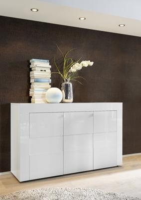 Napoli Three Door Sideboard - White Gloss Finish