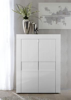Napoli Two Door High Sideboard - White Gloss