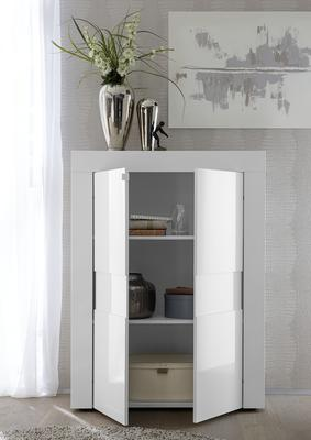 Napoli Two Door High Sideboard - White Gloss image 2