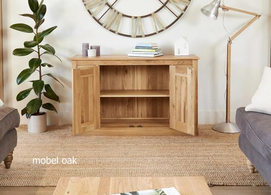 Mobel Solid Oak Modern Sideboard 6 Drawer 2 Door image 3
