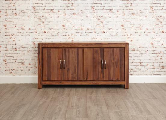 Mayan Walnut Large Low Four Door Sideboard Rustic image 6
