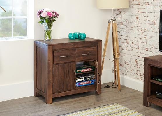 Mayan Walnut Small Sideboard Two Door Two Drawer Rustic