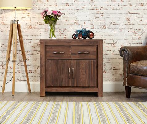 Mayan Walnut Small Sideboard Two Door Two Drawer Rustic image 2